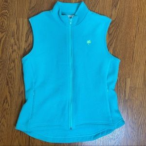 Lilly Pulitzer Turquoise Fleece Vest Size Small